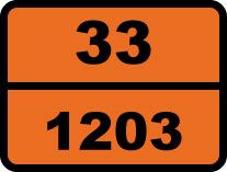 """33-1203. Бензин"". Табличка опасный груз"